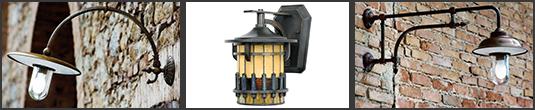 Настенные и напольные уличные светильники